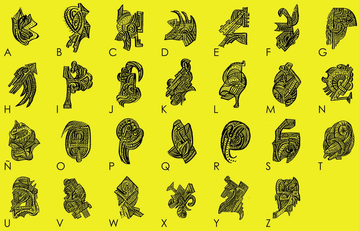 Alfabeto BYN por quino romero